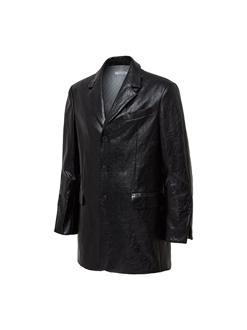fake leather oversize jacket